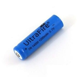 Аккумулятор 14500 AA в Минске UltraFire 1200mAh Li-ion 3.7V с защитой; пальчиковый аккумулятор 3.7V купить в Минске