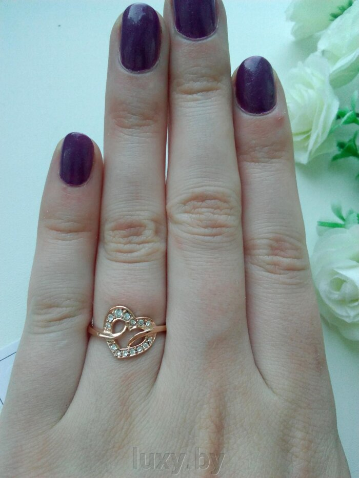 кольца позолоченные