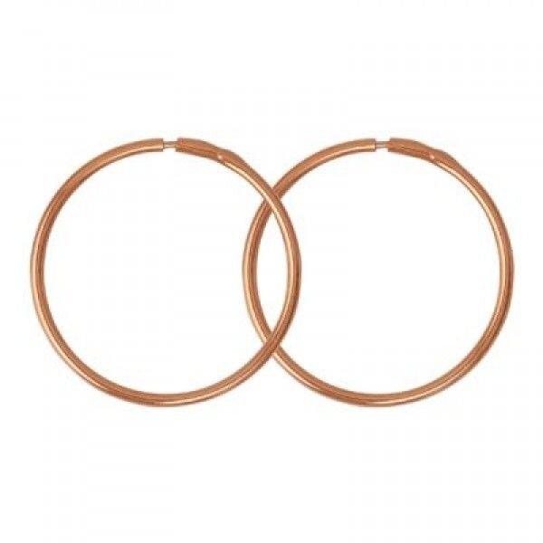 Серьги-кольца диаметр 4см , арт.330528цр