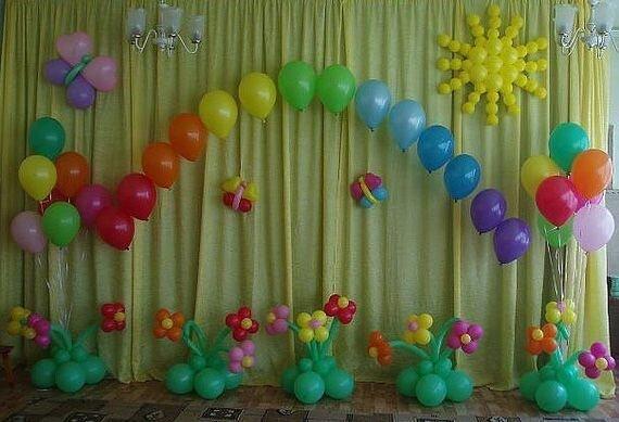 [Оформление шарами выпускной в детском саду своими руками