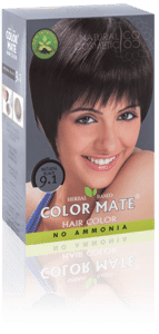Краска для волос COLOR MATE Hair Color — травяная краска без аммиака!(натуральный черный) Тон- 9.1 180 гр от компании ИП Анищенко Д. Н. - фото