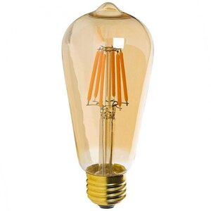 Лампочка Rev LED Filament Vintage ST64 E27 5W 2700K DECO Premium теплый свет 32435 5